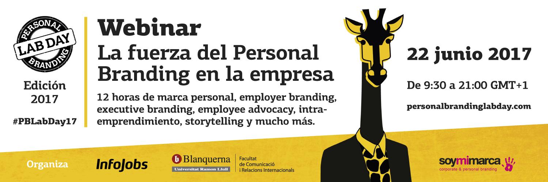 Personal Branding Lab Day 2017 Webinar #PBLabDay17
