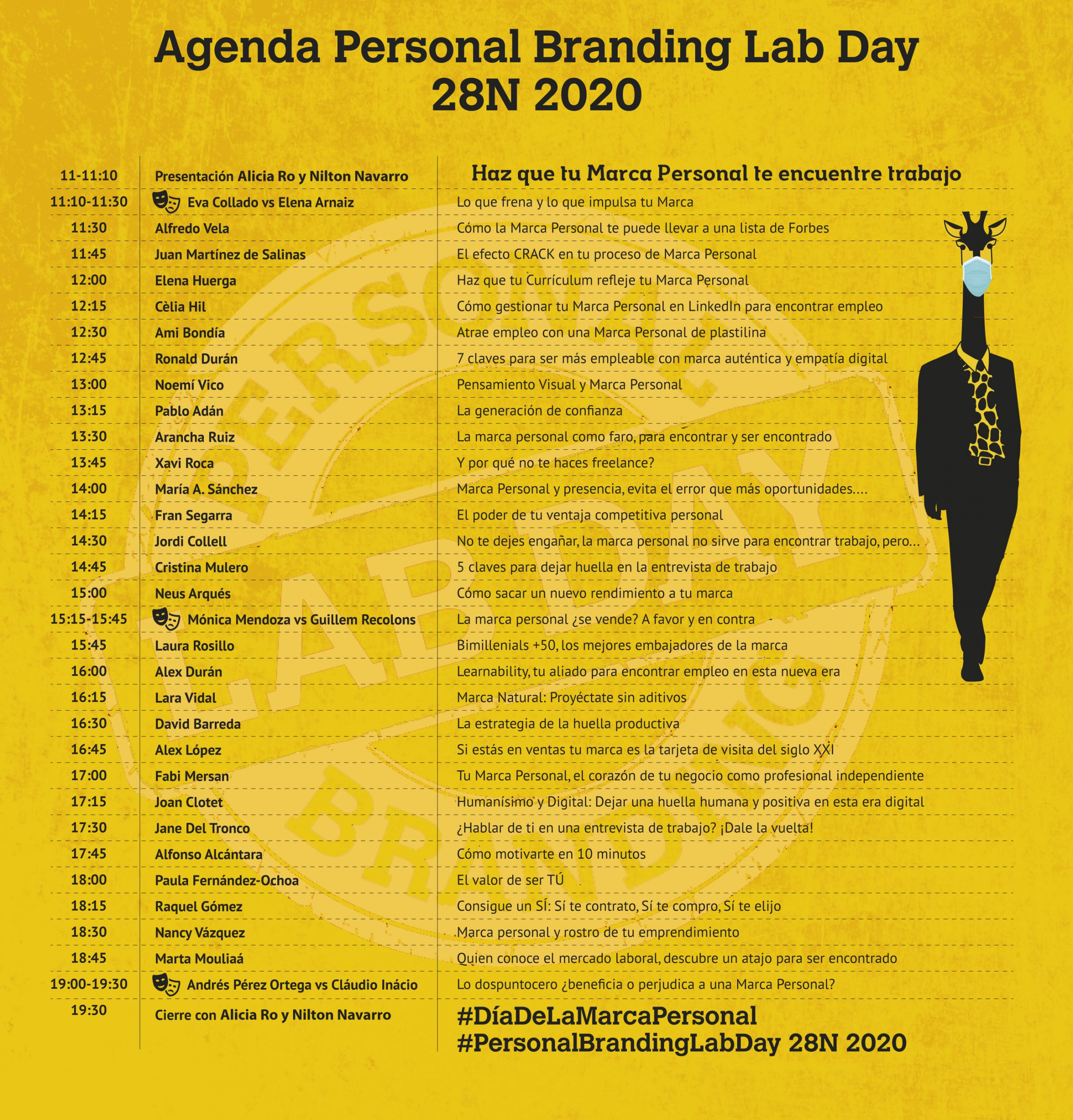 Agenda 28N Personal Branding LabDay 2020